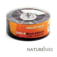 25 Traxdata pack de valeur Black Edition DVD-R 8x disques vierges 4,7 GO Ritek