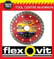 "FLEXOVIT 4"" / 100mm ULTRA THIN TURBO RIM DIAMOND BLADE FOR BRICK & CONCRETE ETC"