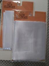 White Satin Pillowcase Set Of 2