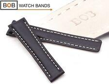 - Bob echt Leder-faltschliessenuhrband per BRTL-Faltschließe NERO 20-18 mm