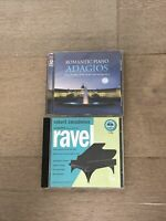 Piano CD Lot Complete Piano Music of Maurice Ravel & Romantic Piano Adagios