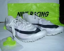 Nike Zoom Men Racing Sprint Cleats With Nike Carry Bag White Shoes Size 14 New