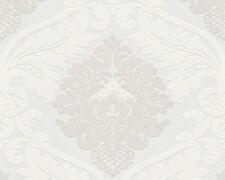 Papier Peint Feutre COMME Bling Bling 313911 Baroque blanc beige Schintillant