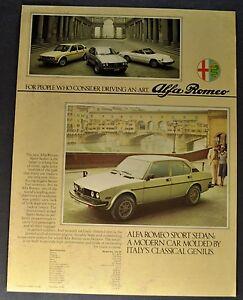 1978 Alfa Romeo Brochure 2000 Spider Veloce Sprint Sport Sedan Excellent Orig 78