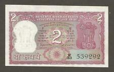 India 2 Rupees N.D. (1975); AU+; P-53a; L-B237a; Bengal tiger; Without letter