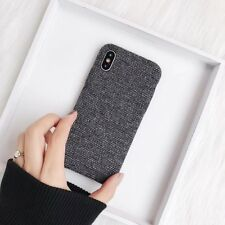 For iPhone X 8 7 6s plus Case Newsest Korean Simple Plaid Fabric Back Cover Skin
