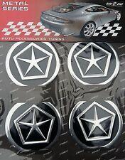 4pcs CHRYSLER (Metal) Logo Wheel Center Stickers 60mm Replacement Decal Cap Hub