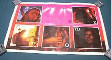 Pink Floyd Dark Side of the Moon Original Album Poster Red with Photos of Band