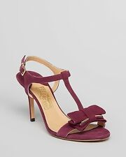$675 size 9 Salvatore Ferragamo Revi Calf Suede Leather Heels 8cm Sandals shoes