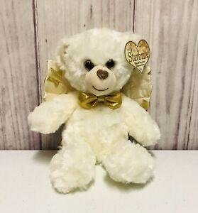 First & Main Starbrite Angel Bear Plush Stuffed Animal Toy