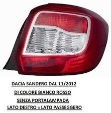 FARO FANALE POSTERIORE DACIA SANDERO DAL 11/2012 BIAN/ROSSO DESTRO 507650