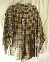 CARHARTT Green Plaid Midweight Flannel Work Shirt Mens Size 2XL REGULAR NEW NWT