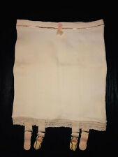 Petite Vintage 1950's Jubilee Open Bottom Girdle Non-Detachable Metal Garters S