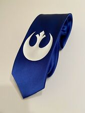 Star Wars Necktie, Rebel Logo , Cool And Stylish, Royal Blue Tie, New
