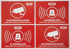 4x ABUS Aufkleber Funk Alarmanlage Kamera Dummy Videoüberwachung Einbruchschutz