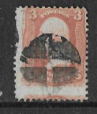 USA / United States Stamps. 1861 Washington 3c. SG62. Used cross PM
