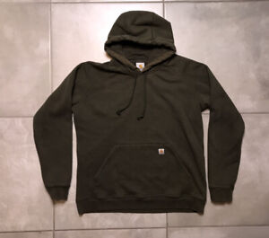 Carhartt Army Olive Green Pullover Hoodie Womens Sz Small