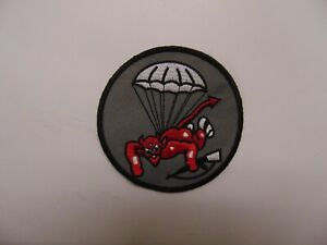 MILITARY PATCH SEW ON DEVIL WITH A PARACHUTE AND A RIFLE
