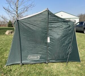Vintage Coleman Vacationer Cabin Tent Model 9155A907 Green 9x7 Sleeps 4 Korea
