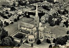 The Nave Salisbury Cathedral England aerial view RPPC Postcard