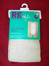 """RE STYLE CYPRESS GREEN SHEER TWO WINDOW SHEERS 84"""" 60X84"""