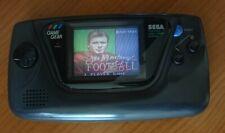 Sega Game gear Console Portatile Anni 90 + gioco FOOTBALL, condensatori nuovi