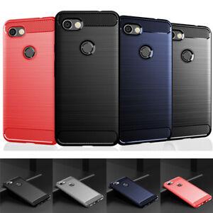 For Google Pixel 5 4A 4 3A 3 2 XL Hybrid Carbon Fiber Matte TPU Back Case Cover