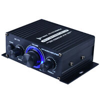 Mini Bluetooth Power Amplifier HiFi 2 Channel Stereo Audio Amp 400W DC12V
