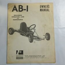 AB-1 Owners Manual Rupp Manufacturing Go-cart F2