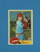 1981 Topps Ted Simmons Baseball Card # 705 St Louis Cardinals HOF