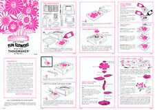 Fun Flowers instruction sheet for a Mattel Thingmaker (Creepy Crawlers)