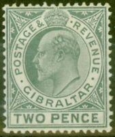 Gibraltar 1910 2d Greyish Slate SG68 Fine Mtd Mint