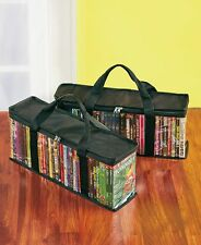 Sets of 2 Media Storage Bags DVD Storage Bag 40 discs Movies Music Easy-Grip