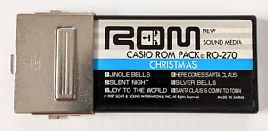 Vtg Casio ROM Pack RO-270, Christmas Songs 1987, Made in Japan, Untested