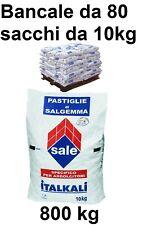Bancale 80 sacchi di sale da 10 kg per addolcitore pastiglie salgemma (800 kg)