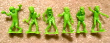 Imperial Toy Lot of 6x Neon Green ZOMBIES Monster Playset Figures - Nice & Clean