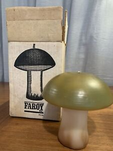 Vintage Mushroom Candle New in Box! 1960s Novelty Green