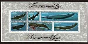 SWA 1980 WHALES MINIATURE SHEET UNMOUNTED MINT