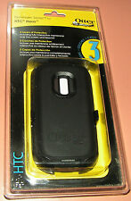 OtterBox Defender Series Case for SPRINT HTC HERO, all Black w Holster belt clip