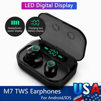 Headphones Bluetooth Earbuds Mini Headset Stereo Earphones Wireless 5.0 TWS IPX7