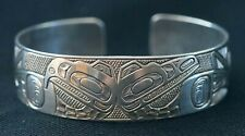 "Ding Hutchingson Haida Bracelet .75"" Wide First Nation Northwest Native Cuff"