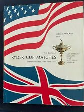 New listing Golf: 19th Biennial Ryder Cup Official Program; 1971 St Louis