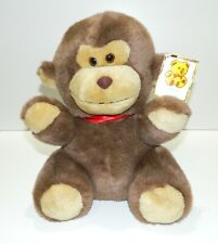 "Vintage Kellytoy Cute Monkey Plush Stuffed Animal Toy Friend With Tag 11"" EUC"