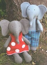 PARSLEY & BEET - Sewing Craft PATTERN - Felt Elephant Rag Doll