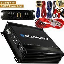 Blaupunkt AMP1501 Mono 1-Channel 1500W Full Range Car Amplifier + 8 Gauge 1500W