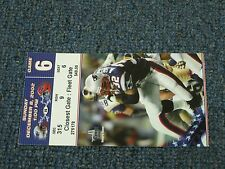Dec 8, 2002 New England Patriots vs Buffalo Bills Game 6 Ticket