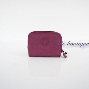 NWT Kipling KI0807 Tops Mini Wallet Zip Snap Card Case Polyamide Stone Purple 34