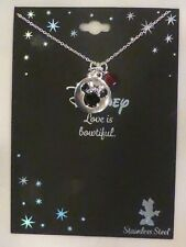 Disney Minnie Mouse Stainless Steel Necklace Pendant Charm NWT
