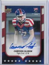 Cameron Caldron 2016 Upper Deck #83 Team USA Rookie Autograph, Wyoming Cowboys