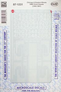 Microscale HO #87-1231 Chicago & Eastern Illinois EMD Hood Diesels (1950-1967)